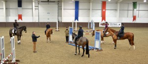 Group jumping lesson with Nick Turner FBHS.  Photo by Fran Russell