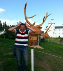 Scottish rep Erik shows his antlers at Blair